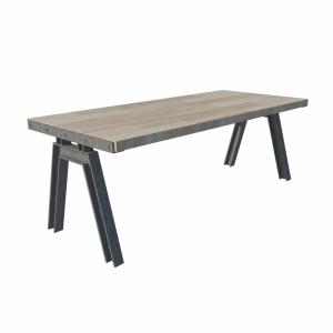 Industriële tafel stalen frame houten blad