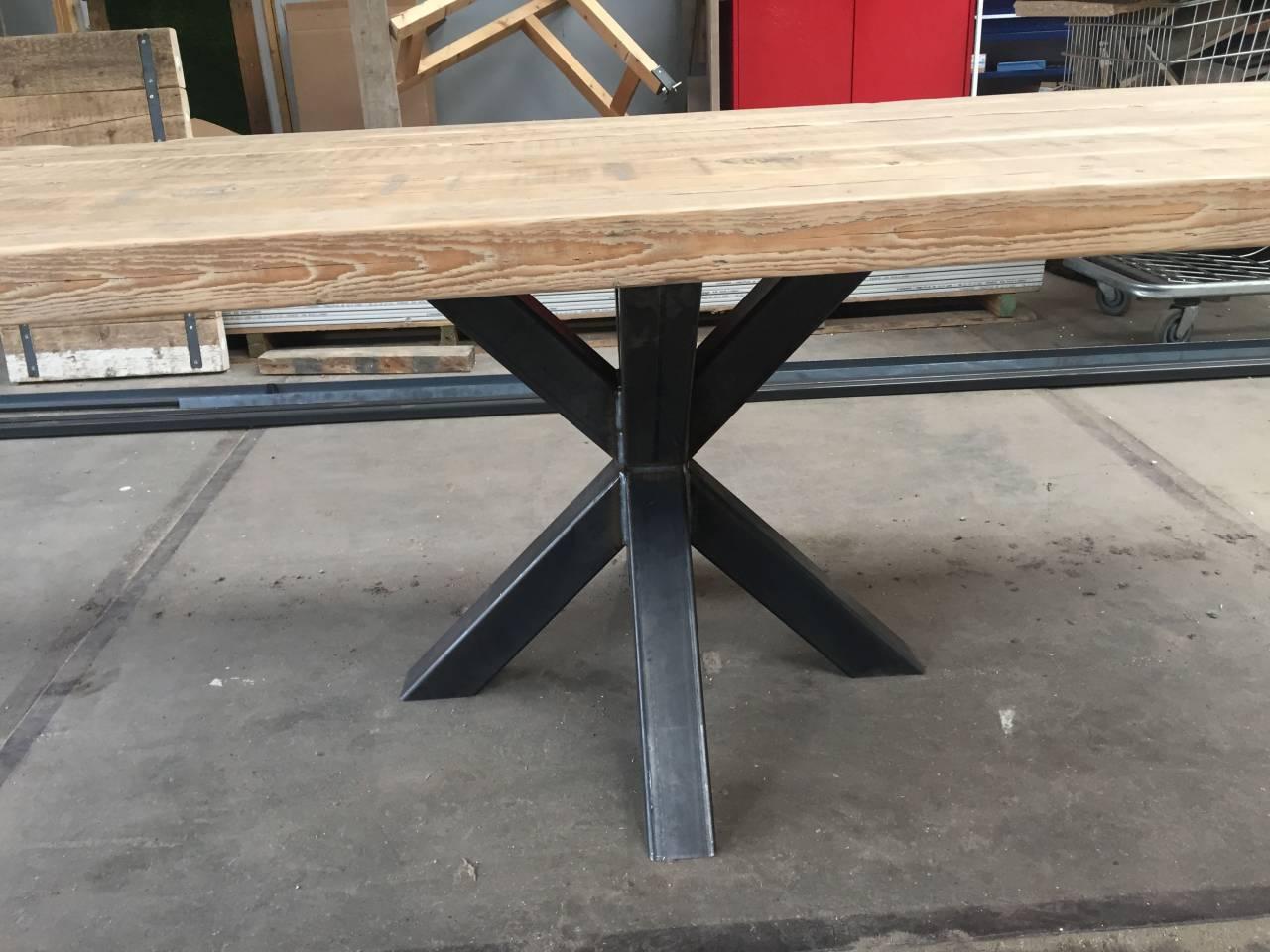 Ster onderstel stalen frame houten blad