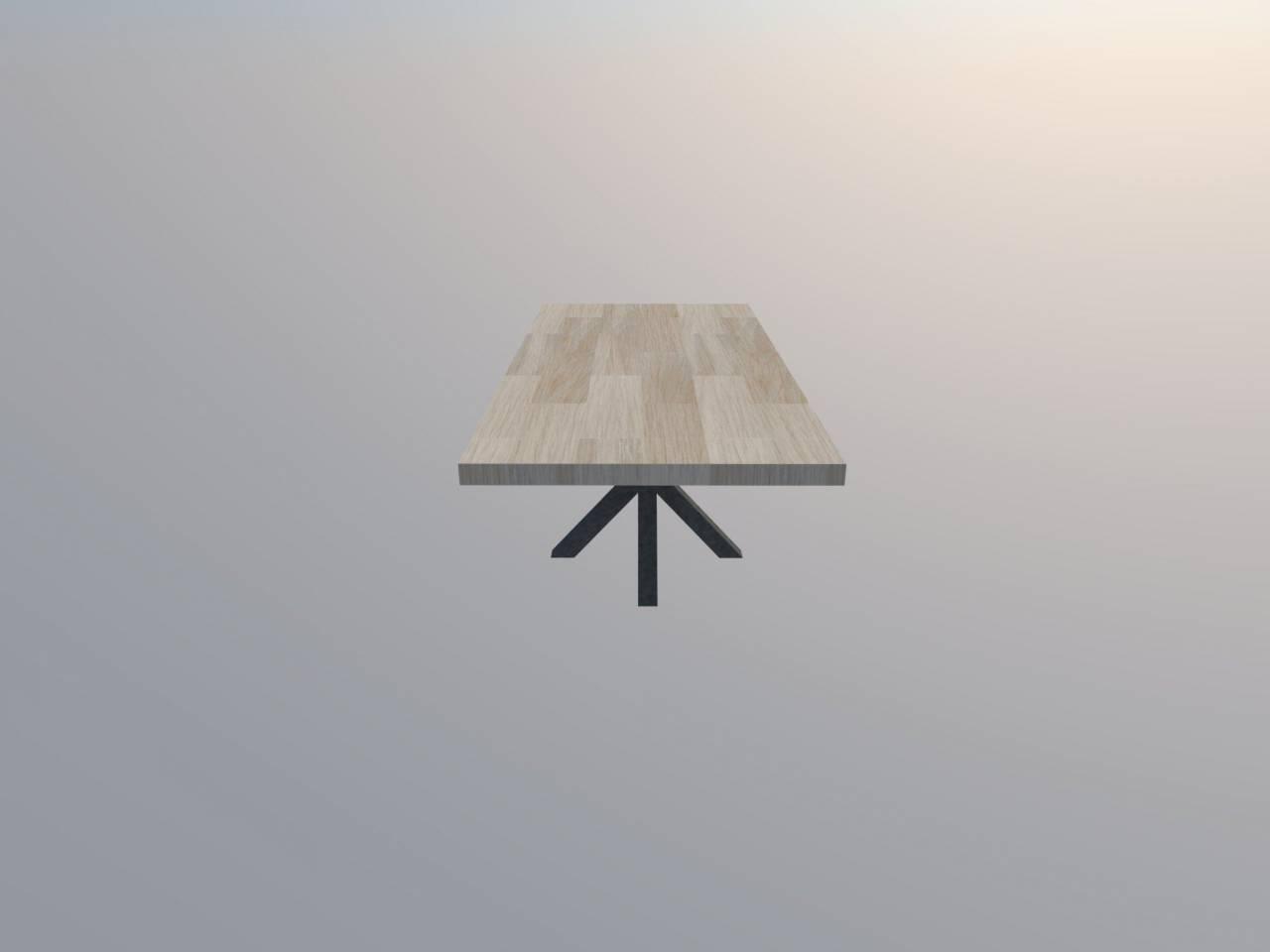Ster onderstel Industriële Stalen Frame Houten Blad