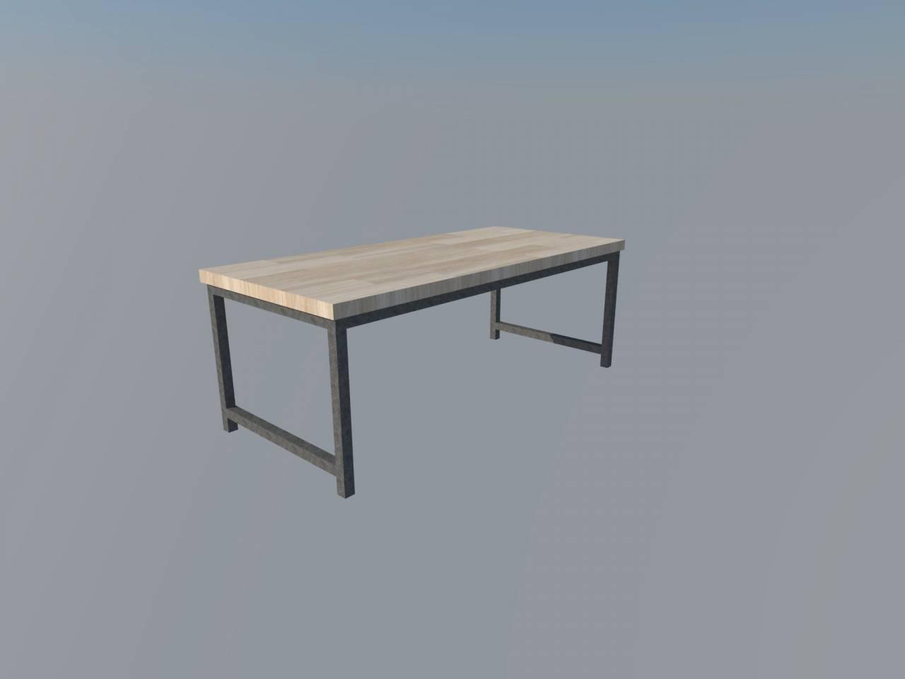Industrieel frame Stalen Frame Houten Blad