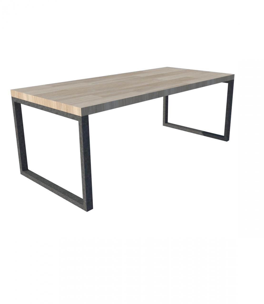 Industrieel stalen O frame voor houten bladSloophoutwebshop nl