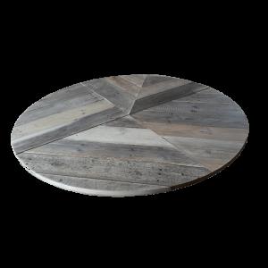 Sloophout tafelblad rond